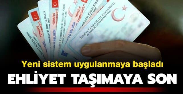 Ehliyet taşımaya son: Vatandaşlar artık sadece kimlik kartlarını taşıyacak