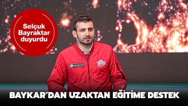 Baykar Teknik Müdürü Bayraktar duyurdu: Uzaktan eğitime destek için 5 bin bilgisayar tablet
