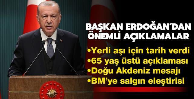 Başkan Erdoğan'dan Kabine Toplantısı sonrası önemli açıklamalar