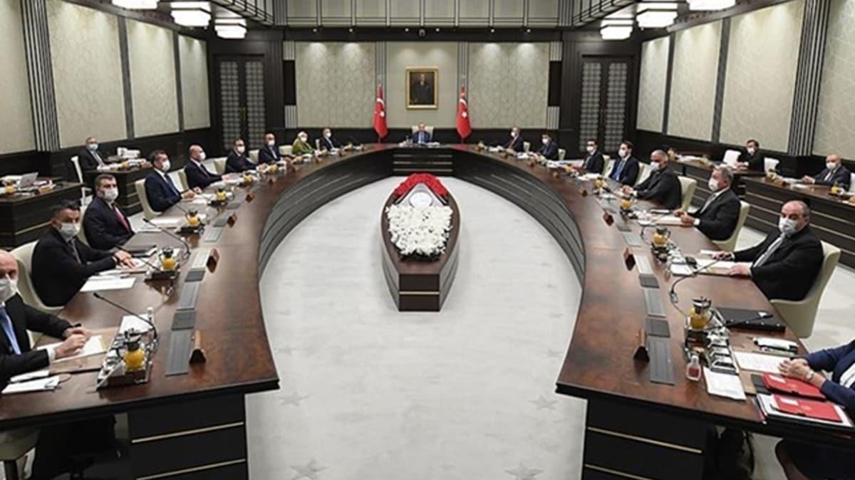 Kabine Başkan Erdoğan'ın başkanlığında toplandı