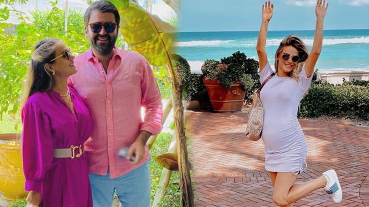 30 haftalık hamile Ceyda Ateş'in bebeği göründü