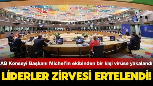 AB Liderler Zirvesi ertelendi!