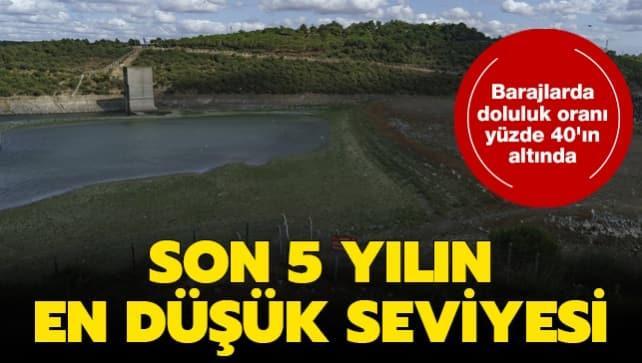 İstanbul barajlarında doluluk oranı yüzde 40'ın altında! Son 5 yılın en düşük seviyesi