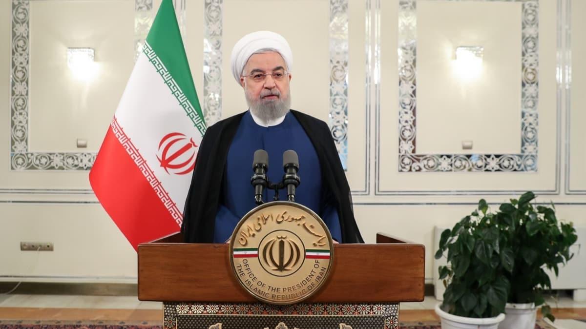 """İran Cumhurbaşkanı Ruhani'den BM'de """"yaptırım"""" tepkisi: Hegemonya ve tahakküm devri geride kalmıştır"""