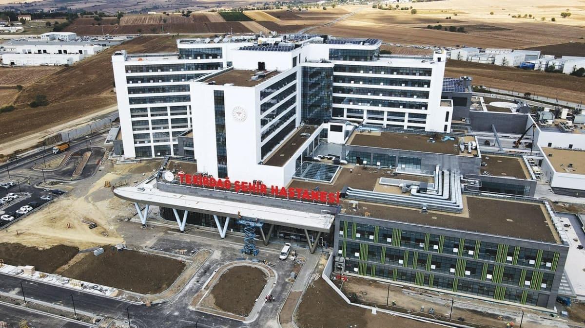 Tekirdağ Şehir Hastanesi ay sonu açılıyor! Trakya sağlık turizminde merkez olmaya aday