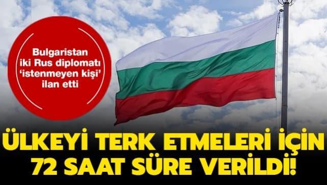 Bulgaristan iki Rus diplomatı 'istenmeyen kişi' ilan etti... Ülkeyi terk etmeleri için 72 saat süre verildi!