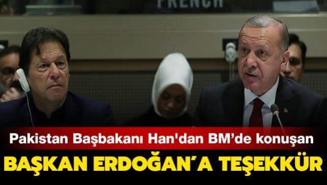 Pakistan Başbakanı İmran Han'dan Başkan Erdoğan'a teşekkür