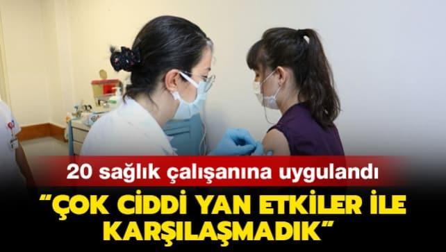Türkiye'de Kovid-19 aşısı 20 sağlık çalışanına uygulandı