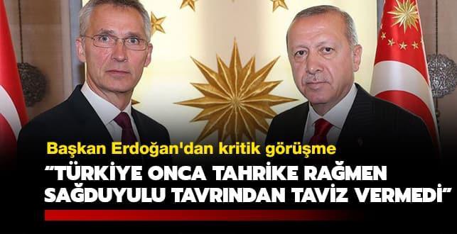 Başkan Erdoğan'dan kritik görüşme: Türkiye onca tahrike rağmen sağduyulu tavrından taviz vermedi