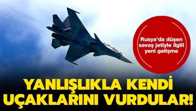 Rusya'da düşen Su-30 tipi savaş jetiyle ilgili yeni gelişme: Başka bir uçak tarafından düşürüldü!
