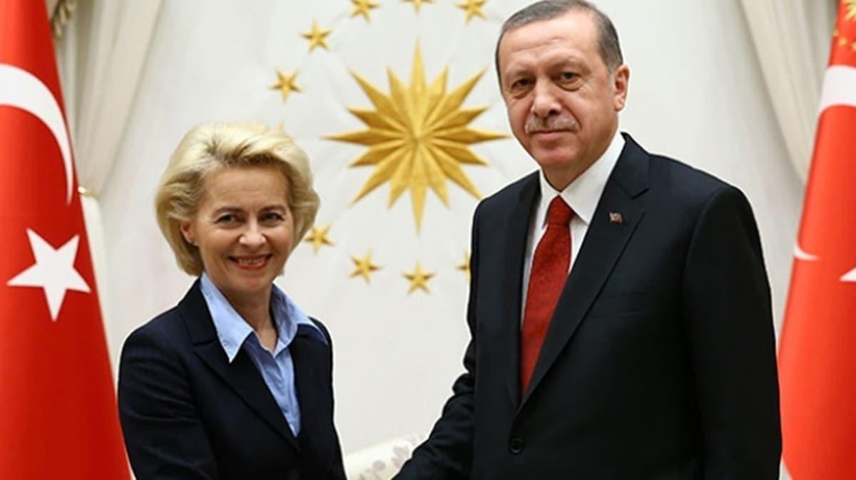 Başkan Erdoğan, AB Komisyon Başkanı Leyen ile görüştü: Gündem maddesi Doğu Akdeniz