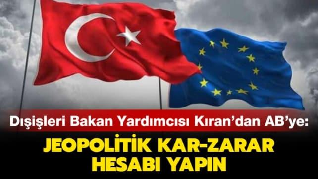 AB'ye dikkat çeken Türkiye uyarısı!
