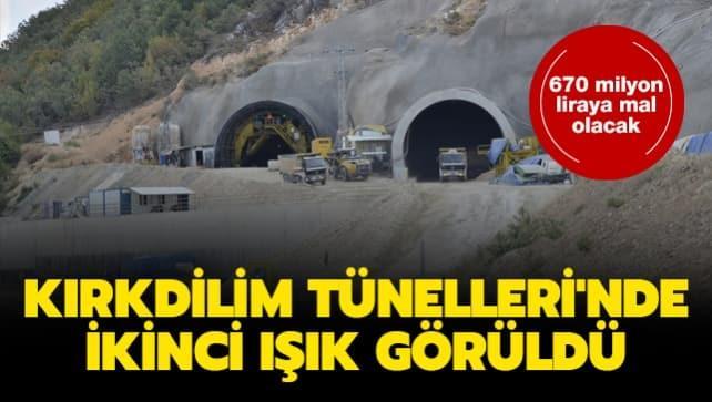 Kırkdilim Tünelleri'nde ikinci ışık görüldü... 670 milyon liraya mal oldu