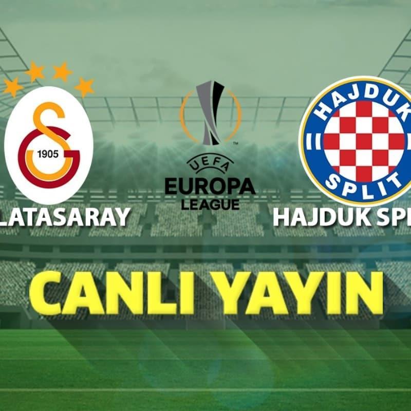 Maçta ilk 11'ler belli oldu   Galatasaray - Hajduk Split