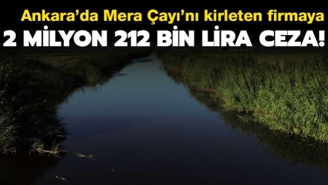 Ankara'da Mera Çayı'nı kirleten firmaya 2 milyon 212 bin lira ceza!
