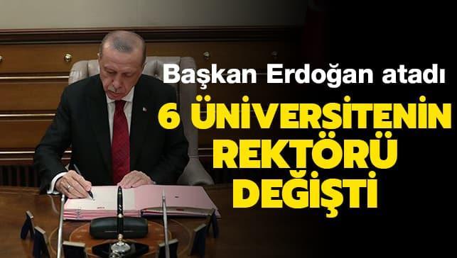 6 üniversitenin rektörü değişti! Resmi Gazete'de yayımlandı