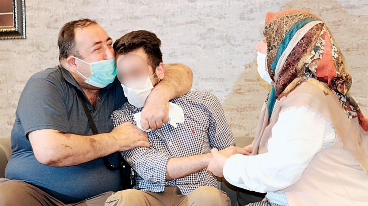 17'nci aile de evladına sarıldı