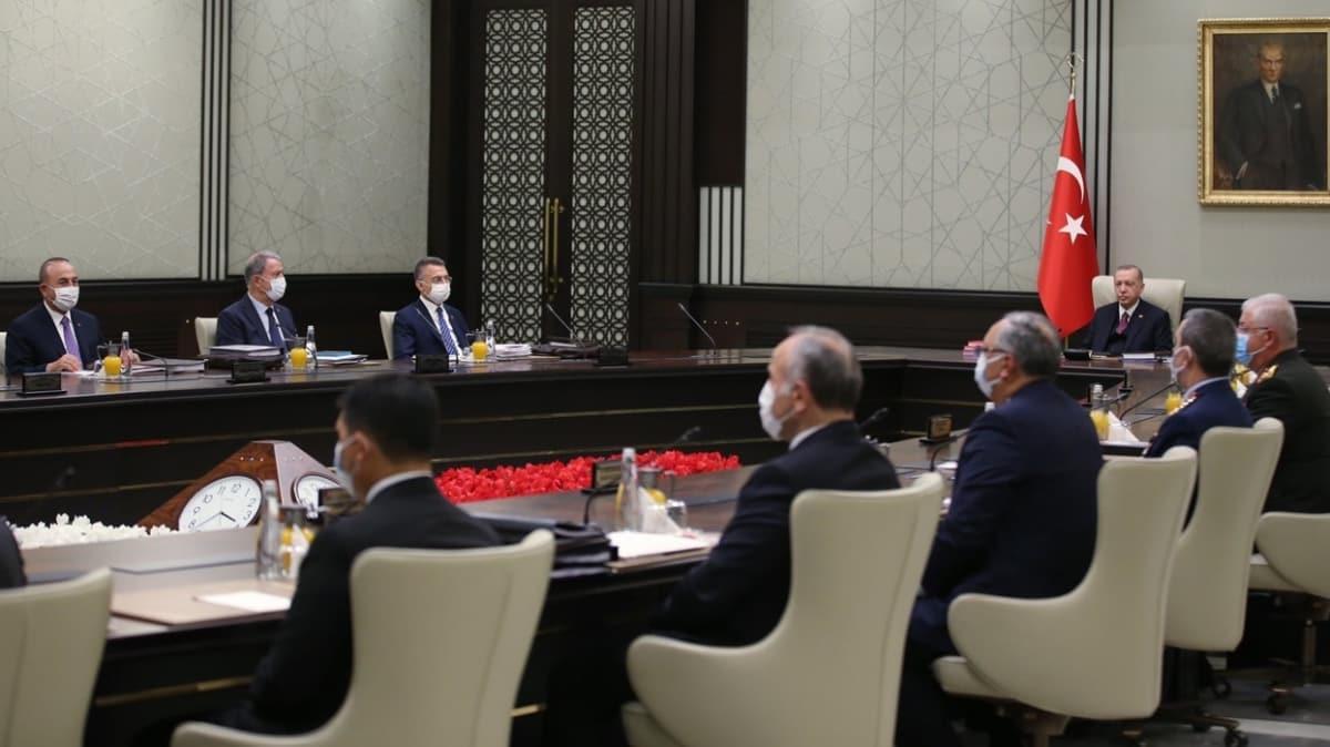 Milli Güvenlik Kurulu (MGK) Başkan Recep Tayyip Erdoğan başkanlığında Beştepe'de toplandı