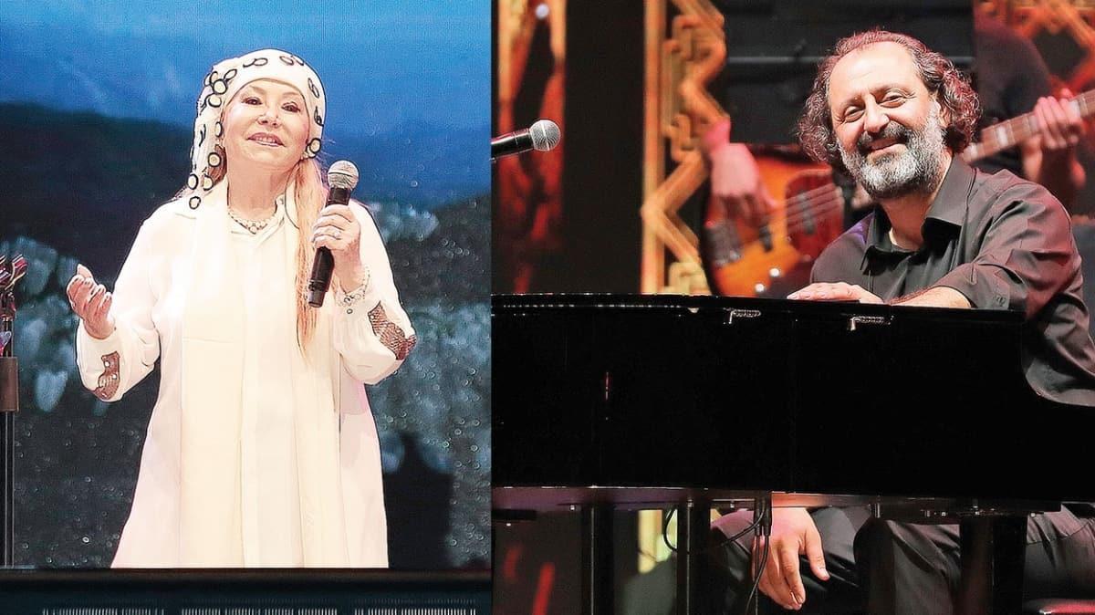 Bedia Akartürk ve Yücel Arzen ile hem türkü hem piyano