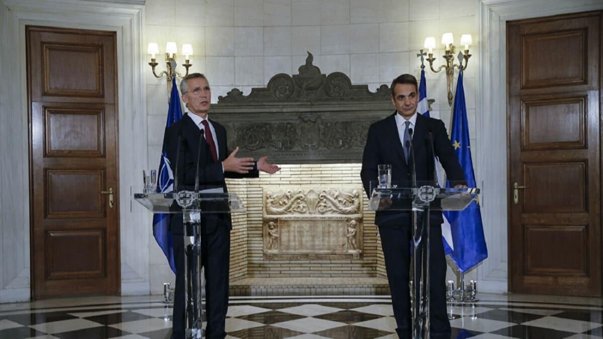NATO Genel Sekreteri, Yunanistan Başbakanı ile görüştü