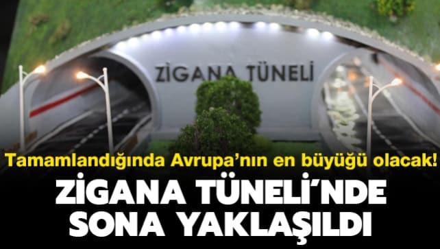 Tamamlandığında Avrupa'nın en büyüğü olacak: Zigana Tüneli'nde sona yaklaşıldı