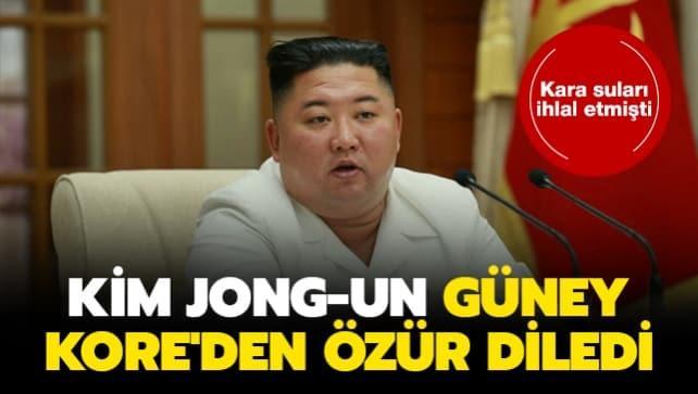 Kara suları ihlal etmişti... Kim Jong-un Güney Kore'den özür diledi