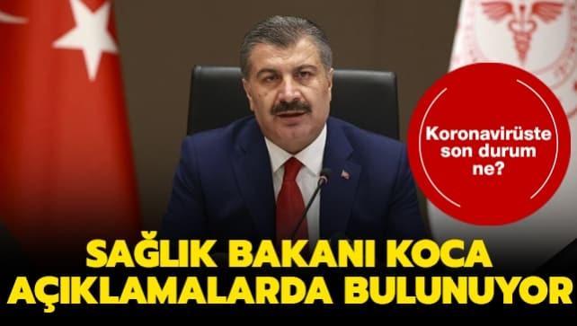 Sağlık Bakanı Koca Samsun'da açıklamalarda bulunuyor