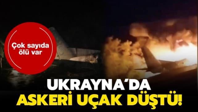 Ukrayna'nın Harkov bölgesinde askeri uçak düştü!