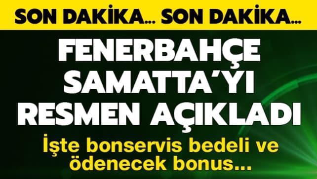 F.Bahçe Samatta'yı açıkladı! İşte bonservis bedeli ve ödenecek bonus...