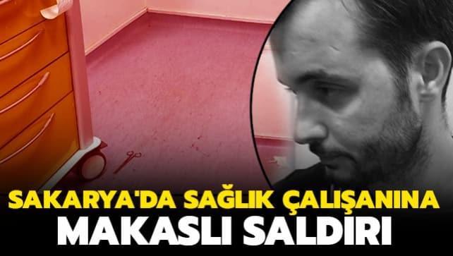 Sakarya'da sağlık çalışanına makaslı saldırı iddiası