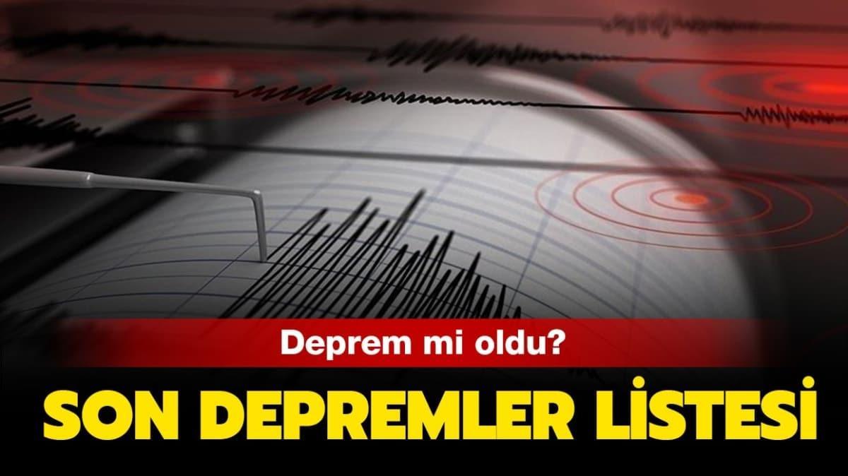 """25 Eylül AFAD, Kandilli son depremler listesi! Deprem mi oldu"""""""