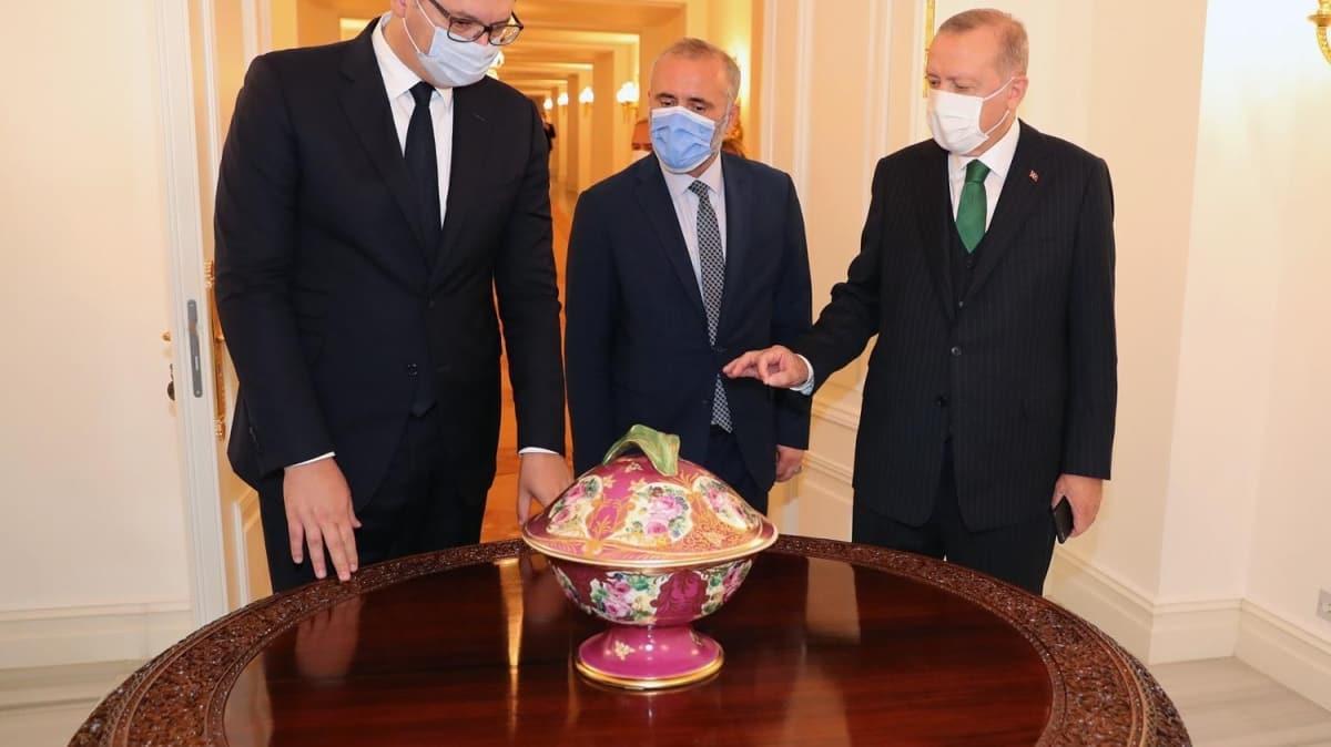 Başkan Erdoğan, Sırbistan Cumhurbaşkanı Vucic'i kabul etti