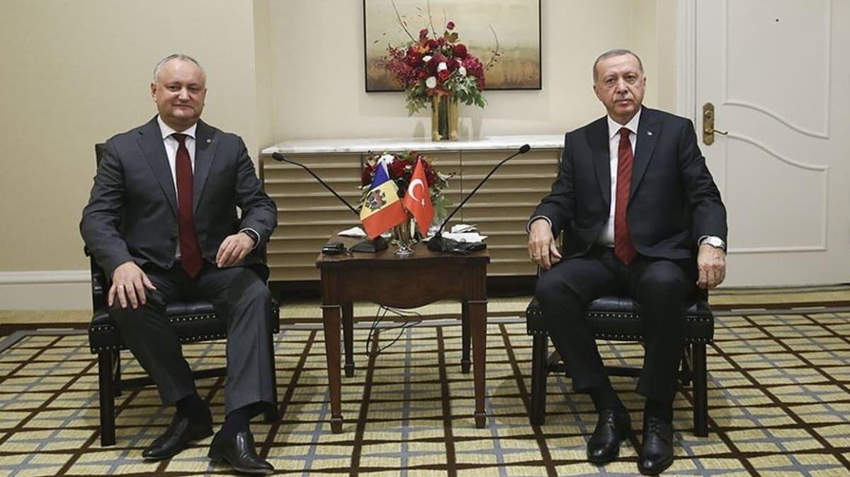 Başkan Erdoğan, Moldova Cumhurbaşkanı Igor Dodon ile telefonda görüştü