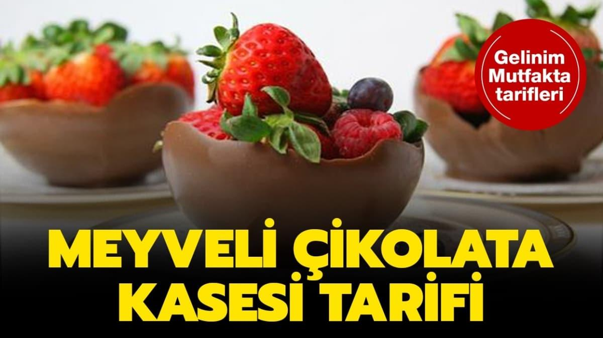 "Gelinim Mutfakta meyveli çikolata kasesi tarifi! Meyveli çikolata kasesi nasıl yapılır"""