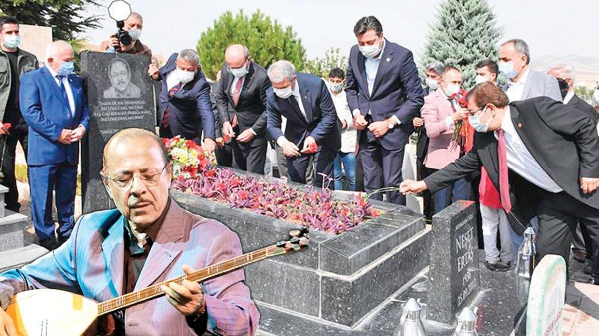 Bozkırın Tezenesi olarak bilinen halk ozanı Neşet Ertaş 8. yılında mezarı başında anıldı