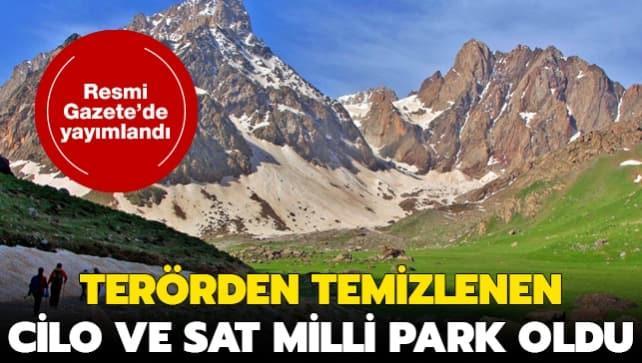 Hakkari'deki Cilo ve Sat Dağları 'milli park' oldu: Resmi Gazete'de yayımlandı