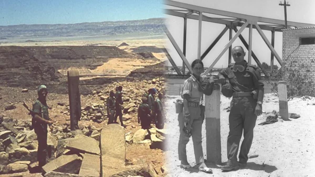 Eski İsrail Savunma Bakanı Dayan'ın Mısır'dan tarihi eser çalarken çekilen fotoğrafı ortaya çıktı!