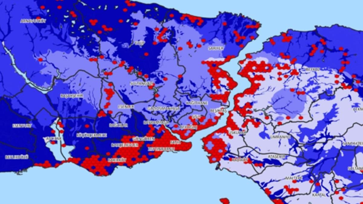 """Hangi bölgeler daha riskli"""" İstanbul'un deprem haritası yayınlandı..."""