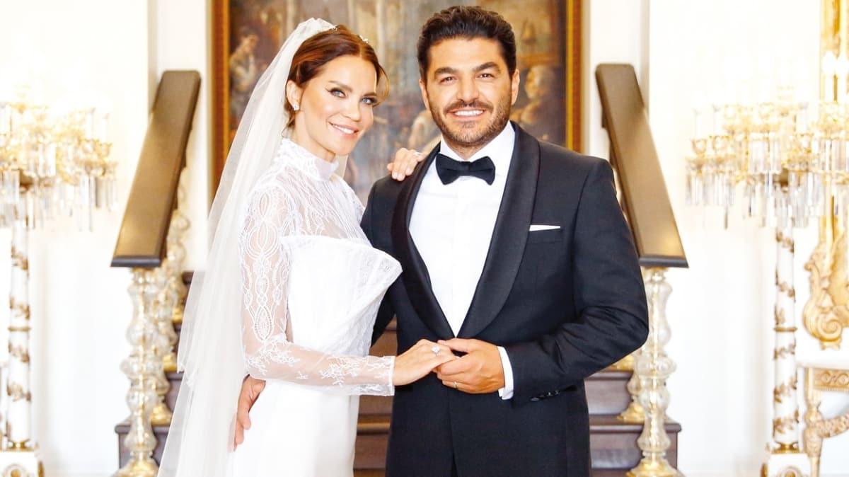 Ebru Şallı ve Uğur Akkuş 1 yılı devirdi: Evlilik yıl dönümümüz kutlu olsun çizgi gözlüm!