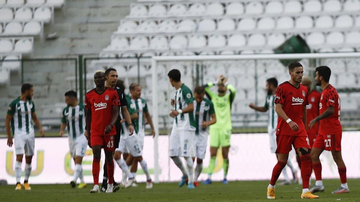 Beşiktaş Konyaspor deplasmanında darmadağın: 4-1
