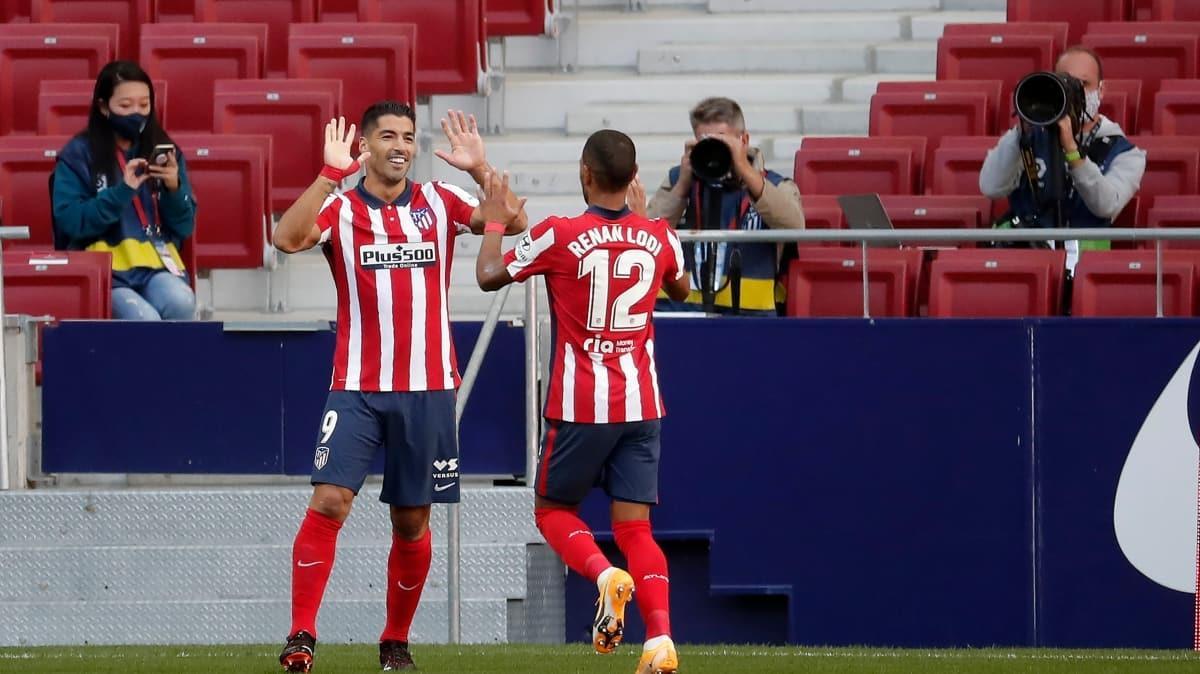 Luis Suarez'li Atletico'dan farklı galibiyet