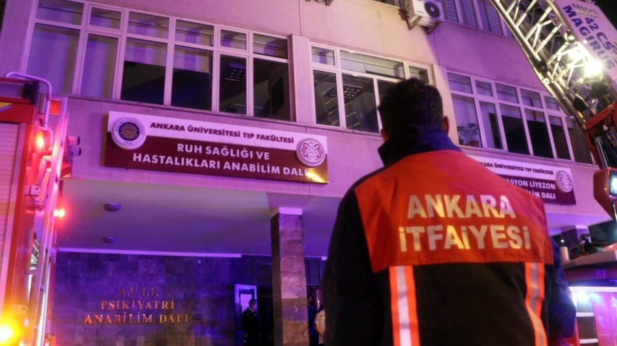 Ankara'da odasını ateşe veren psikiyatri hastası hayatını kaybetti