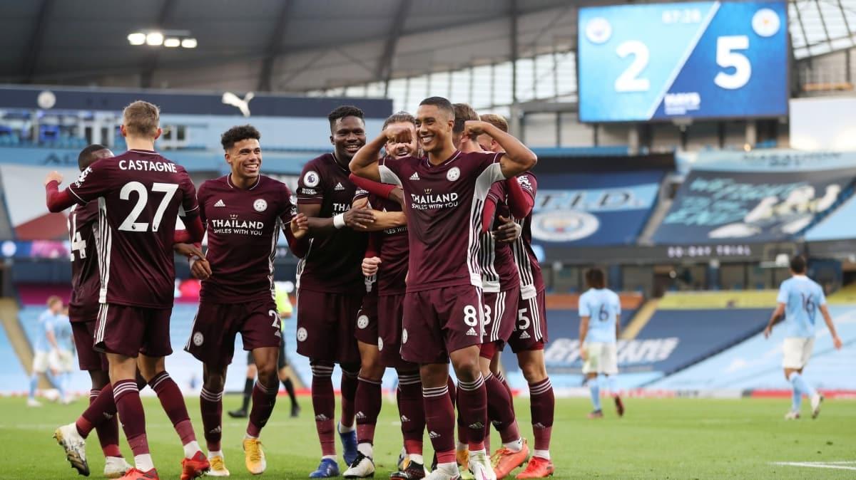 Leicester City, Manchester City'yi 5'ledi