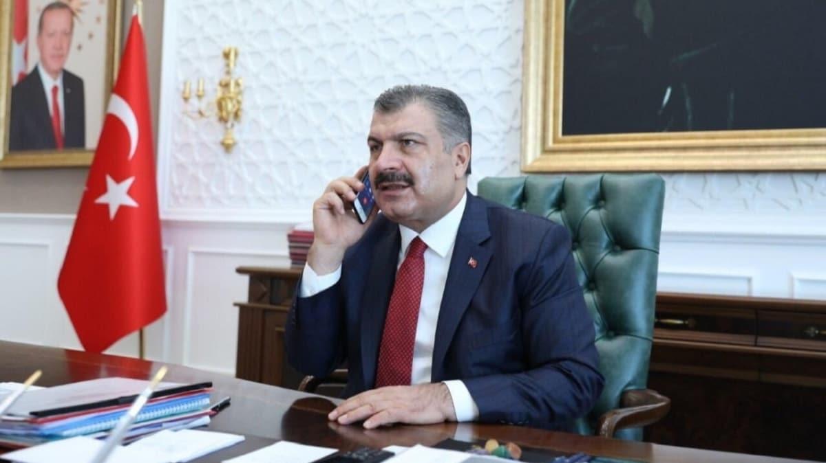 Bakan Koca, Azerbaycan Sağlık Bakanı Şiraliyev'le görüştü