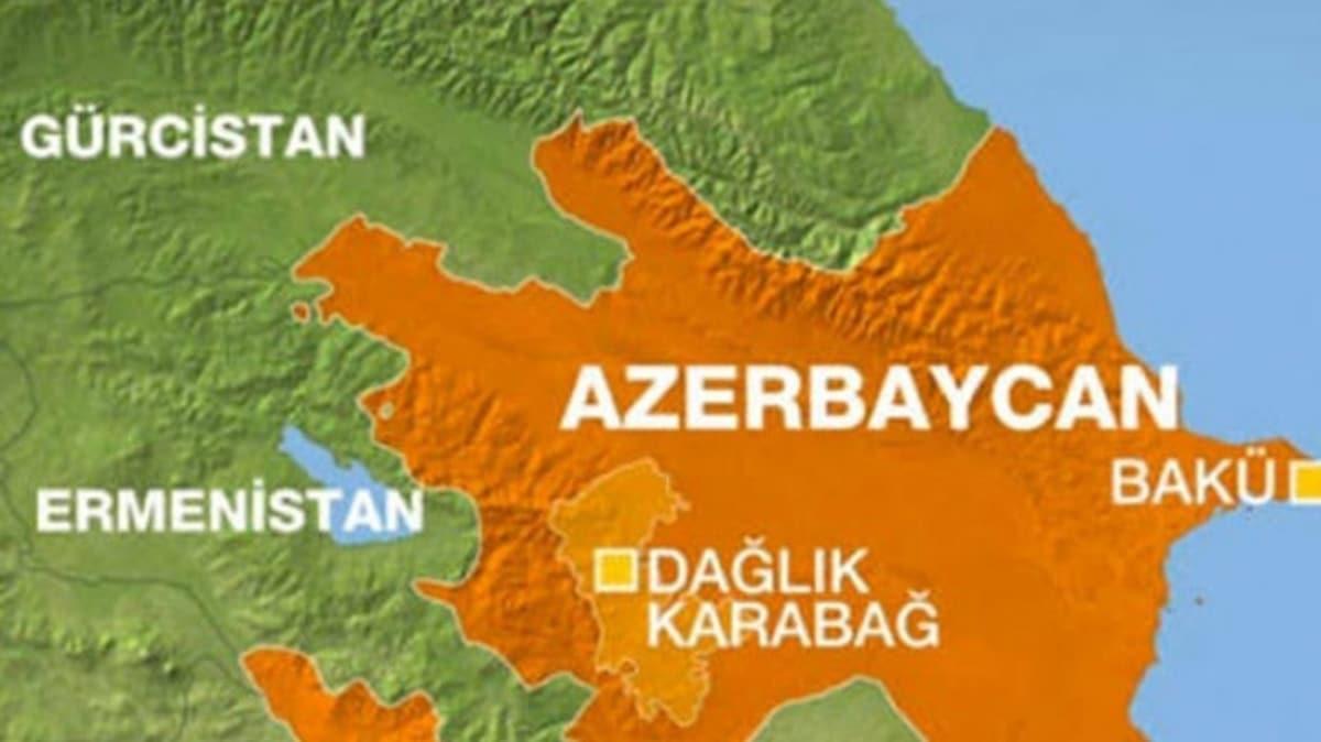"""Dağlık Karabağ'ın haritadaki yeri... Dağlık Karabağ nerededir"""""""