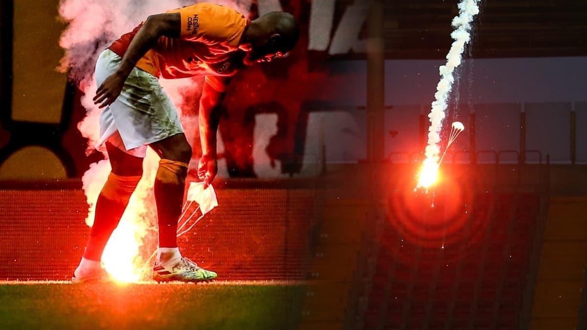 Galatasaray'a paraşütlü meşale cezası yolda