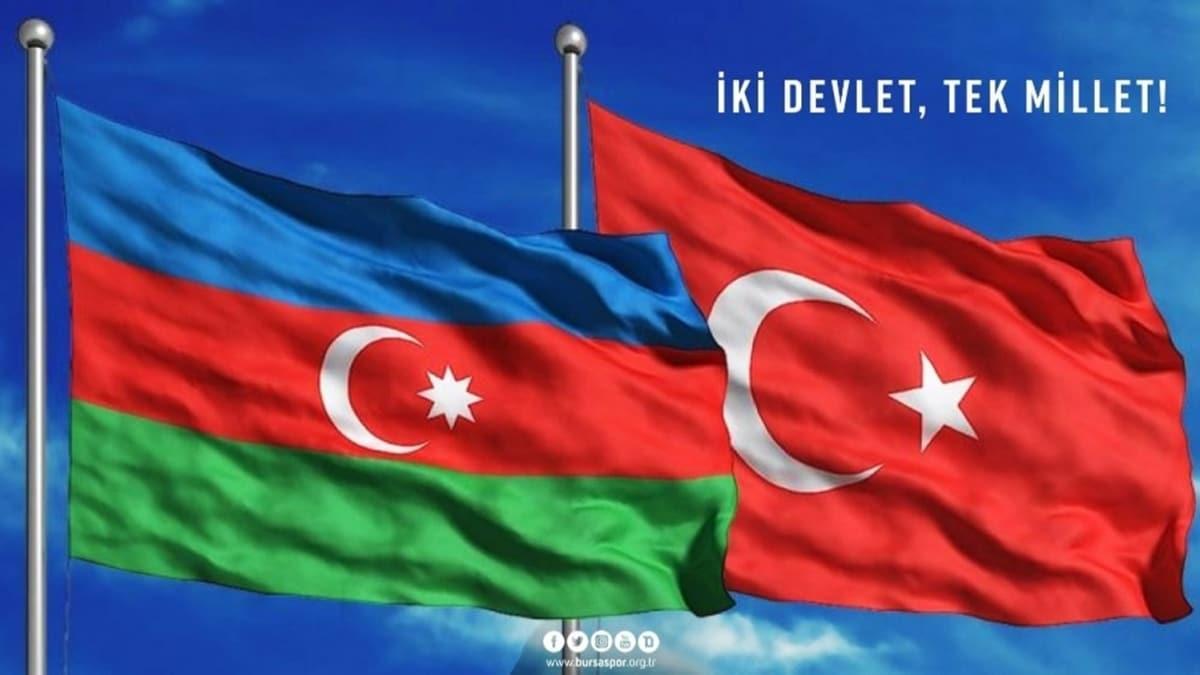 Bursaspor Kulübü: 'İki devlet, tek millet'