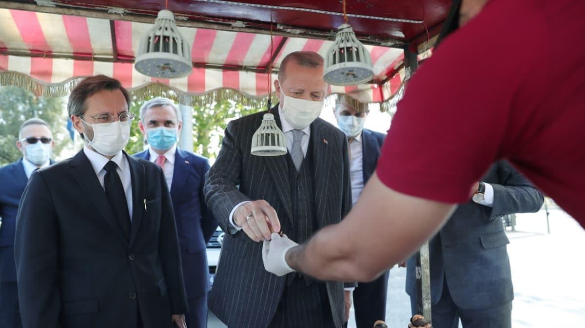 Başkan Erdoğan'dan esnafa sürpriz ziyaret