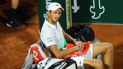 Daniil Medvedev, Roland Garros'a ilk turda veda etti