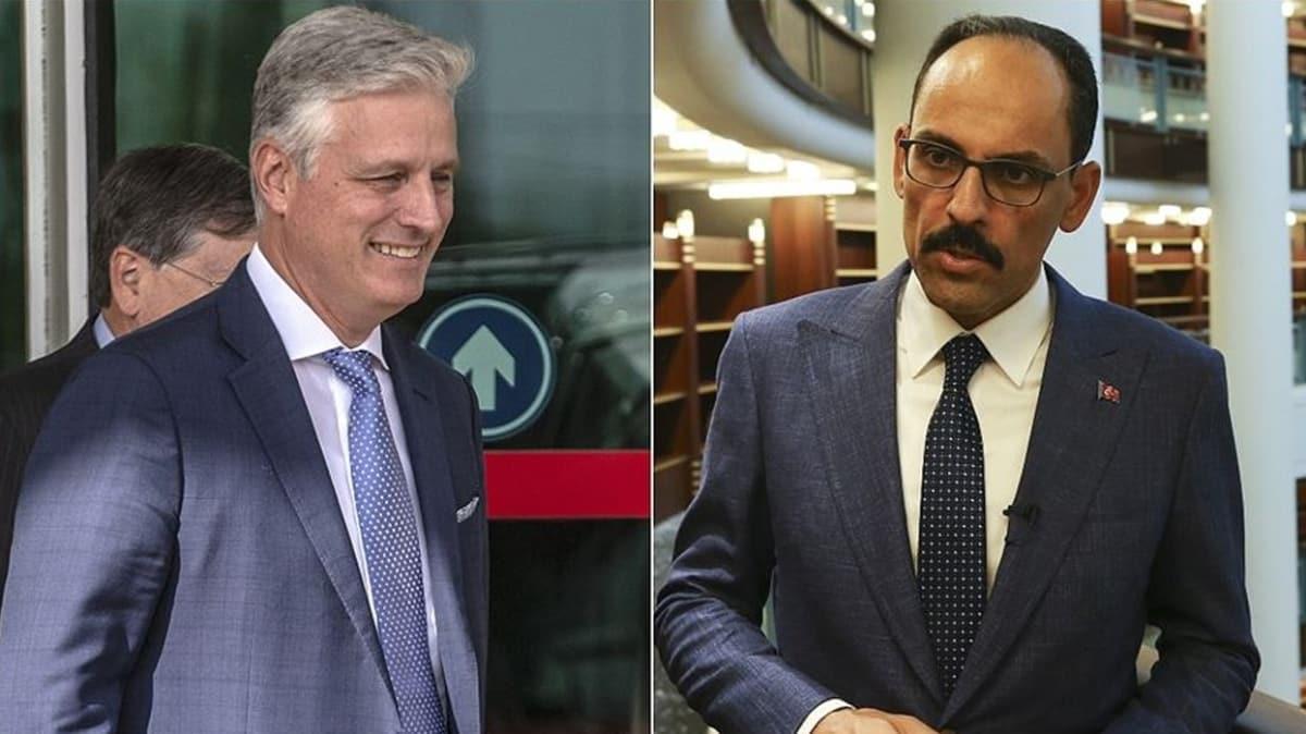 Cumhurbaşkanlığı Sözcüsü İbrahim Kalın, ABD Ulusal Güvenlik Danışmanı O'Brien ile görüştü